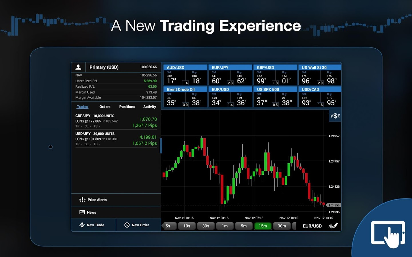 OANDA fxTrade for Android- screenshot
