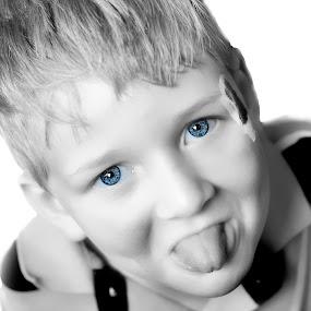 Julian by Michael Shaffer - Babies & Children Children Candids ( playful, band-aid, blue eyes, kids,  )
