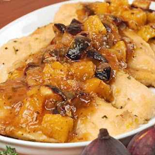 Chicken with Fresh Orange and Fig Pan Sauce