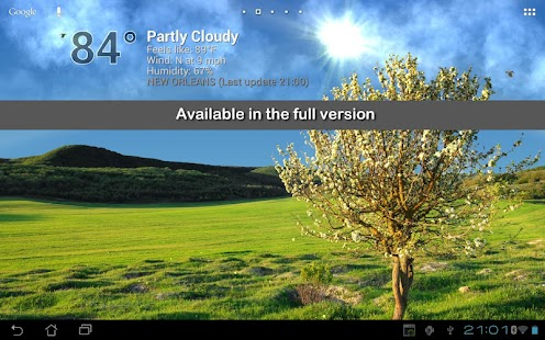 True Weather LWP Free - screenshot thumbnail