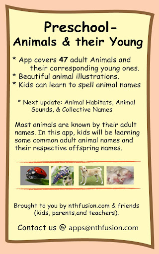 Preschool-Animals their Young