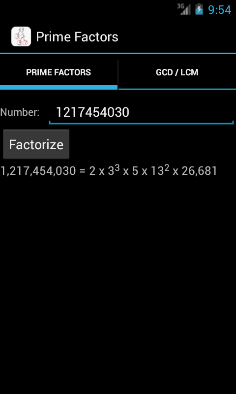 Prime Factors - screenshot