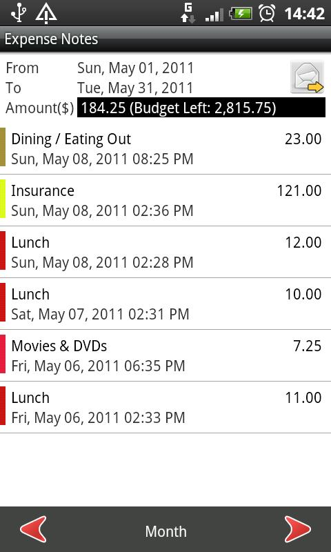 Expense Notes: Expense Tracker - screenshot