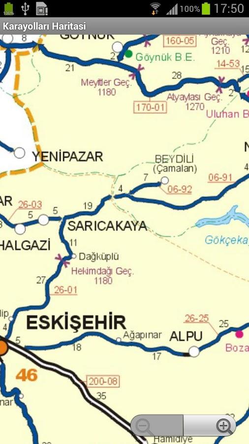 Karayolları Haritası – ekraanipilt