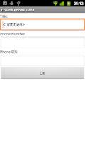 Screenshot of Phone Card Dialer