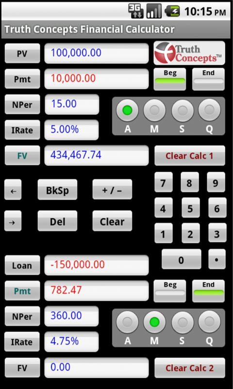 TC Financial Calculators - screenshot