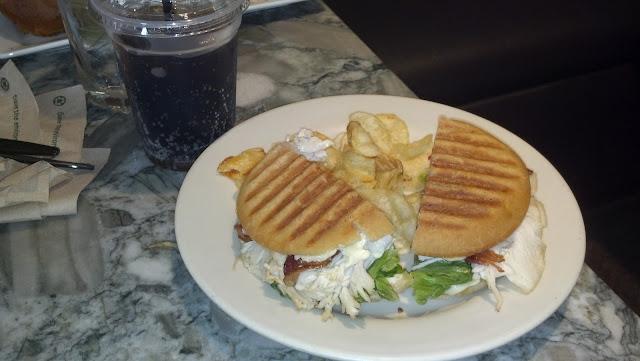 Gluten free sandwich.   Delicious!