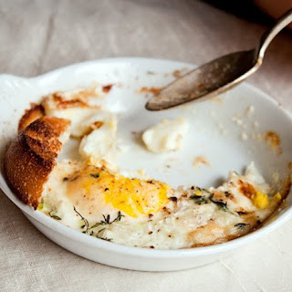 Shirred Eggs with Soldiers