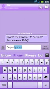 GO Keyboard Purple Theme- screenshot thumbnail