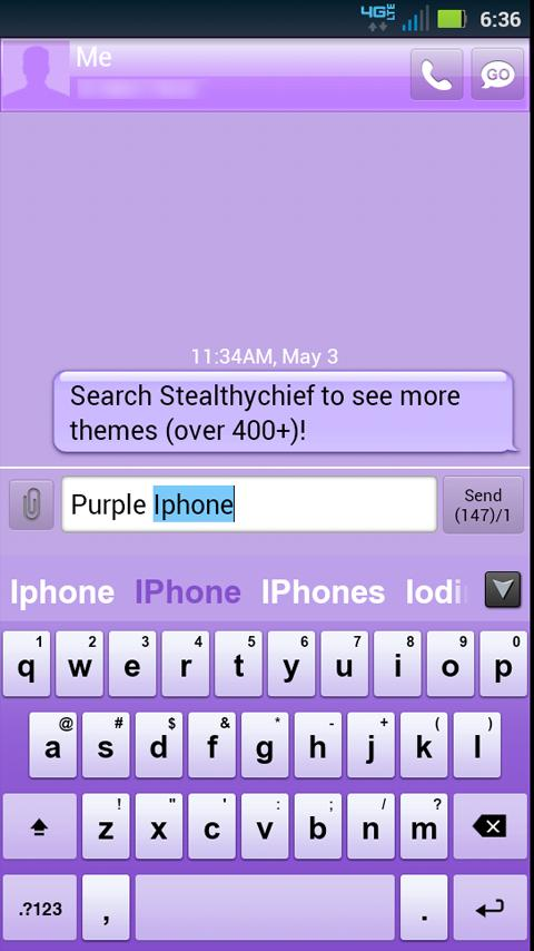 GO Keyboard Purple Theme- screenshot