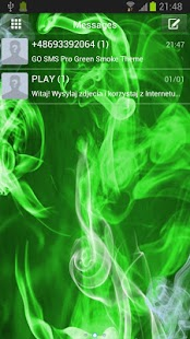 GO SMS Pro Green Smoke Theme - screenshot thumbnail