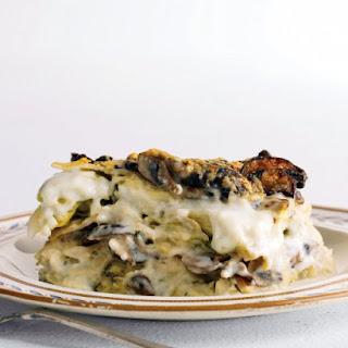 Rich Artichoke and Mushroom Lasagna