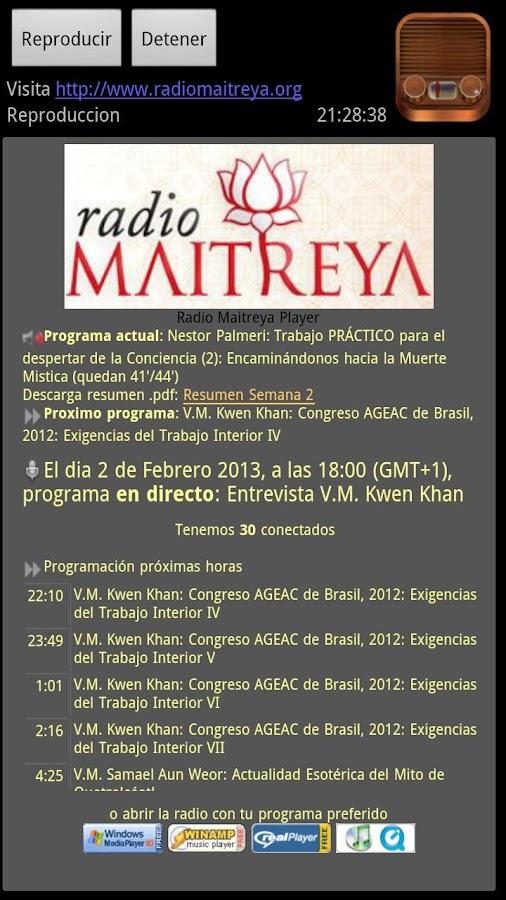 Radio Maitreya - screenshot