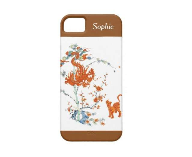 Kakiemon Dragon and Tiger iPhone 5 Case