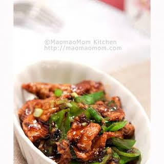 Pork and Snow Pea Stir Fry 豉蒜肉片.