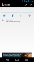 Screenshot of Rápido (Twitter, Facebook)