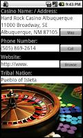 Screenshot of Tribal Casinos Indian Gaming