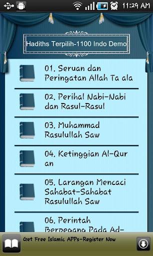 1100 Kumpulan Hadist Bahasa Indonesia