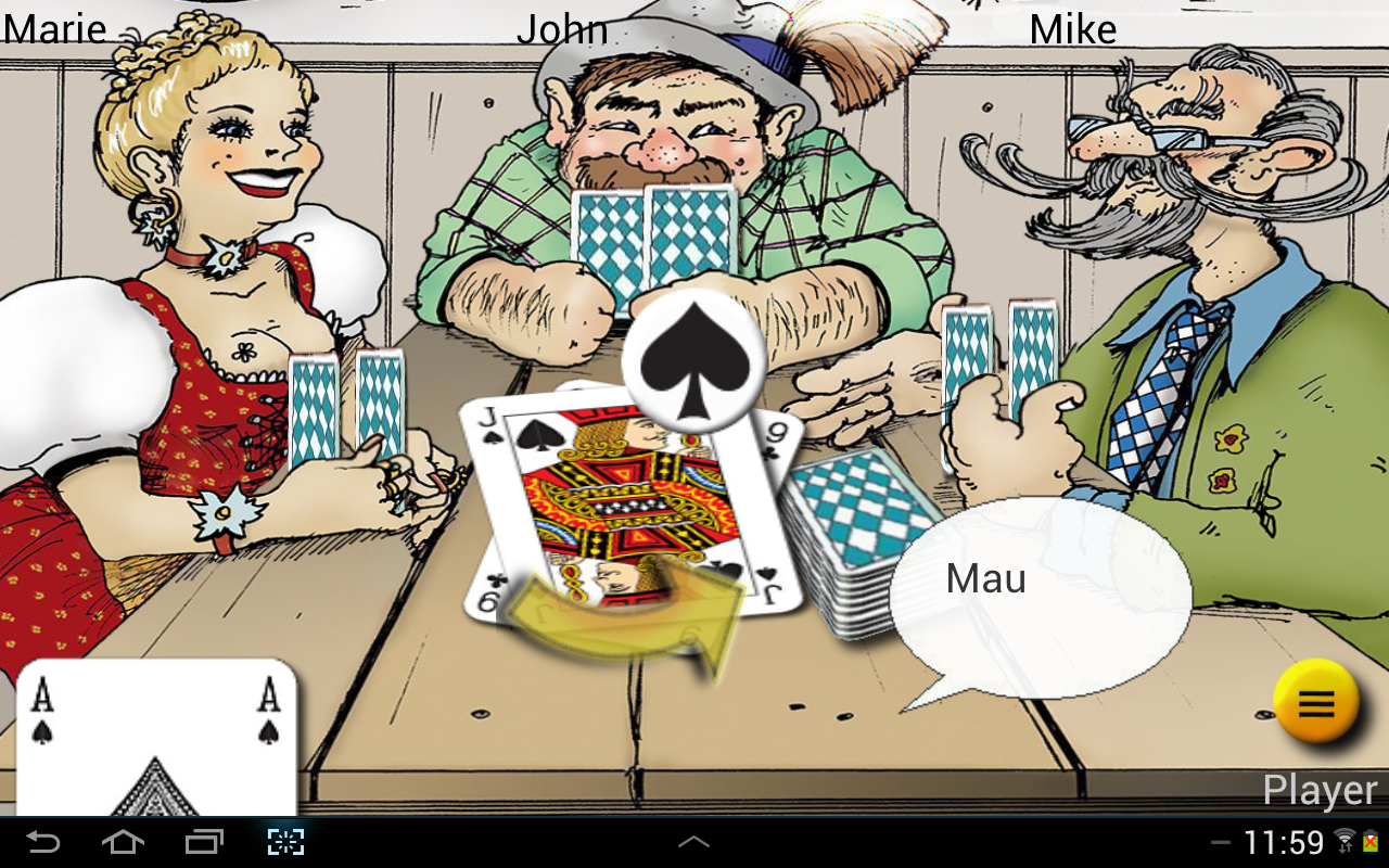 Mau Mau at the pub - screenshot