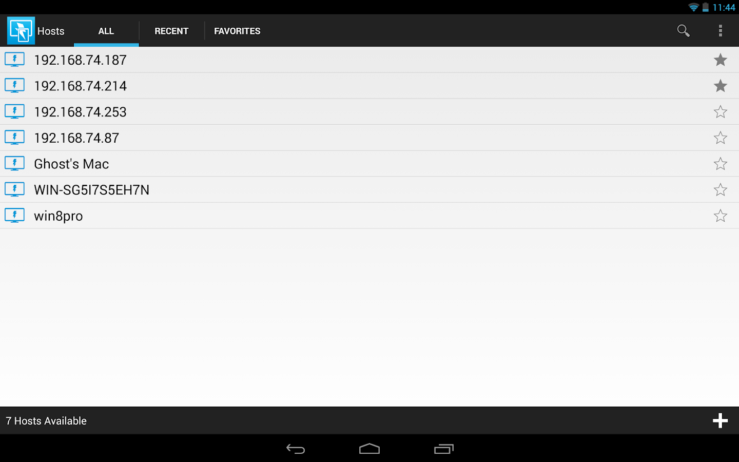 DameWare Mobile for Android- screenshot