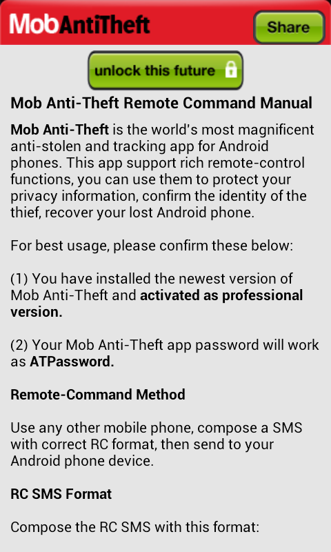 Mob Anti-Theft - screenshot