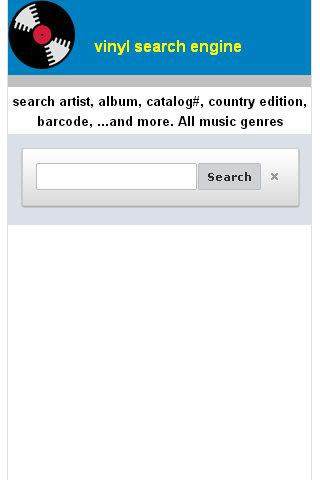 Vinyl Search Engine