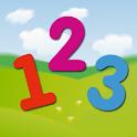 Mathematics and numbers kids logo