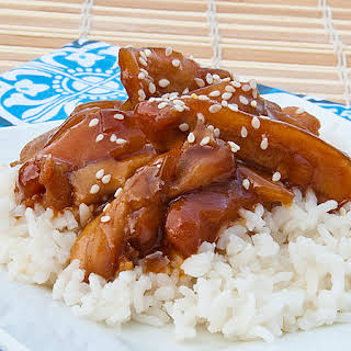 Honey Bourbon Crock Pot Chicken.