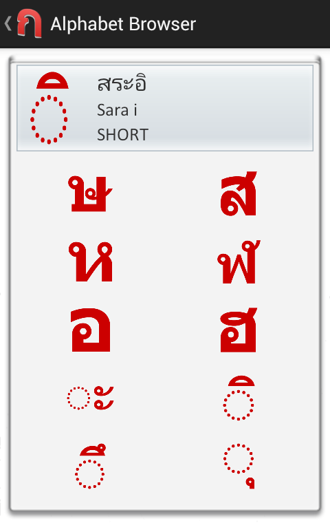Thai Alphabet Flashcards- screenshot