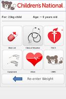 Screenshot of Pediatric Quick Reference