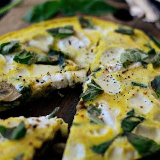 Spinach & Mushroom Ricotta Frittata