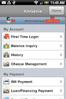 Screenshot of AmBank AmGenie Mobile Banking