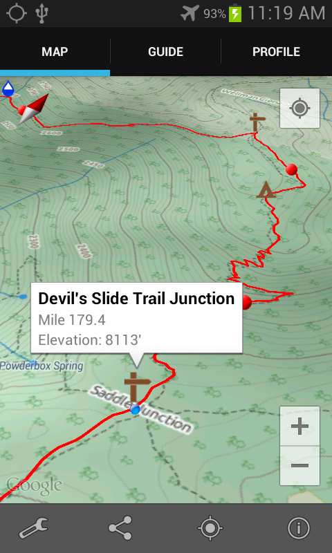 Guthook's Guide: PCT DEMO - screenshot