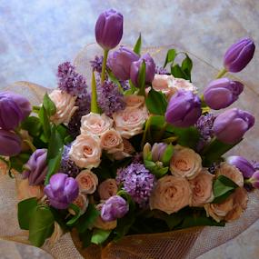 Lavender  by Rita Uriel - Flowers Flower Arangements ( bouquet, roses, tulips, leaves, lavender )