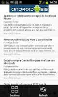 Screenshot of Androidsis