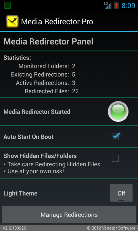 URSafe Media Redirector- screenshot