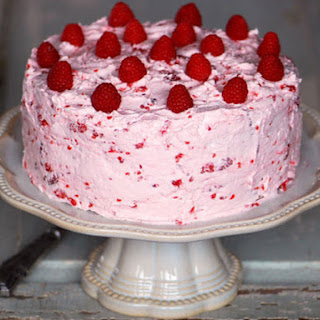 Lemon Cake with Fresh Raspberry Buttercream Recipe