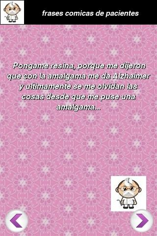 frases comicas de pacientes - screenshot