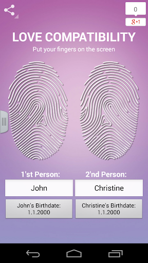 Love Test Fingerprint Scanner