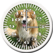 Dog 7 Collie Analog Clock