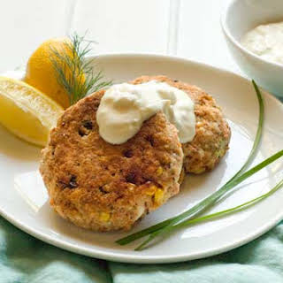 Gluten Free Salmon Cakes with Two Quick Sauces.