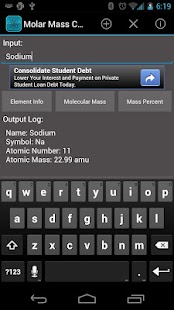 Molar Mass Calculator - screenshot thumbnail
