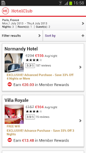 HotelClub:Hotels bis zu 70% - screenshot thumbnail
