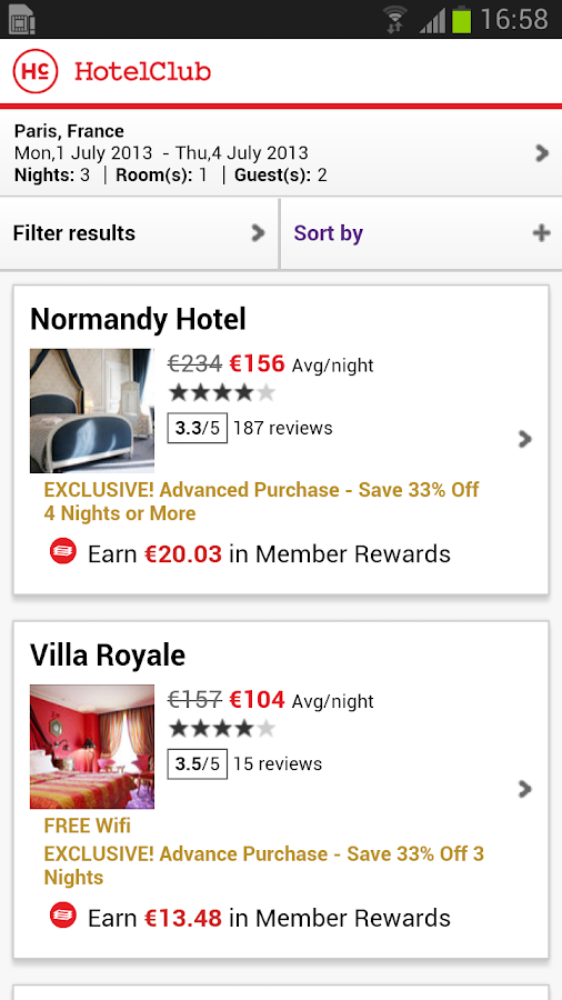 HotelClub: Hotels up to 70%off - screenshot