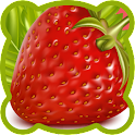 Fruits vegetables. Coloring icon