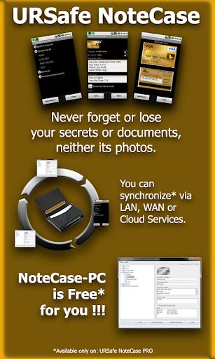 URSafe NoteCase PRO