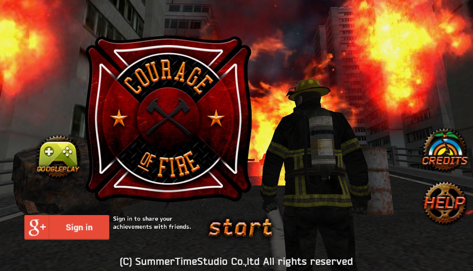 Courage of Fire- screenshot