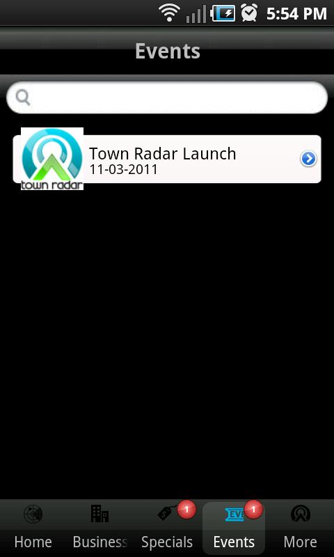 Town Radar - screenshot