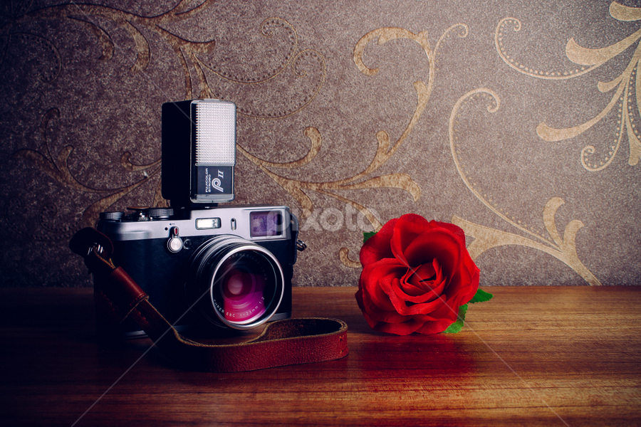 Digital camera with the classical model by Krisdian Isnu Wardana - Artistic Objects Technology Objects ( vintage, camera, artistic, classic )