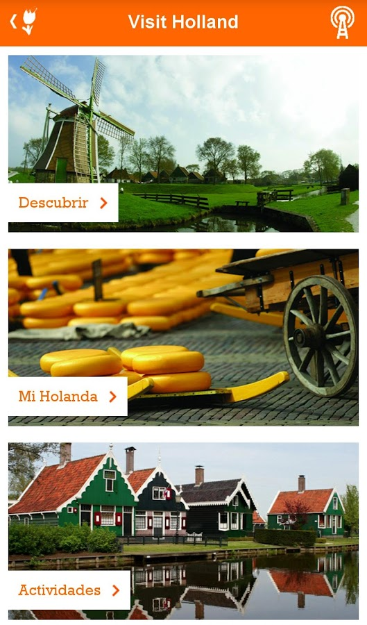 Visit Holland: captura de pantalla